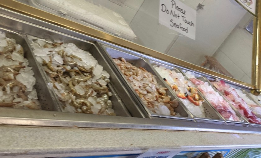 seafood on display at Lynn's in Eastpoint