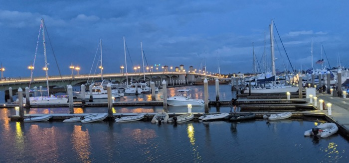 st augustine marina and the bridge of lions