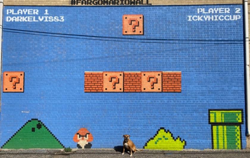 Super Mario mural in Fargo