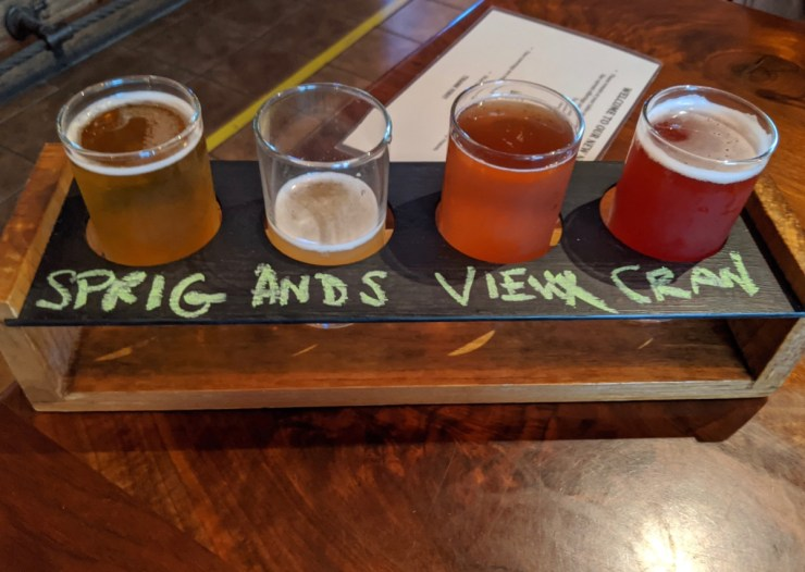 sour flight at Bozeman Brewing