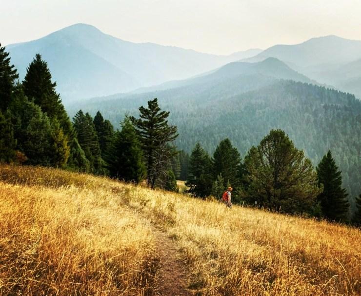 hiking near Livingstone, MT