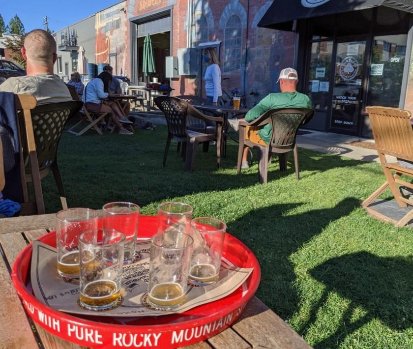 beer flight at mickduff's
