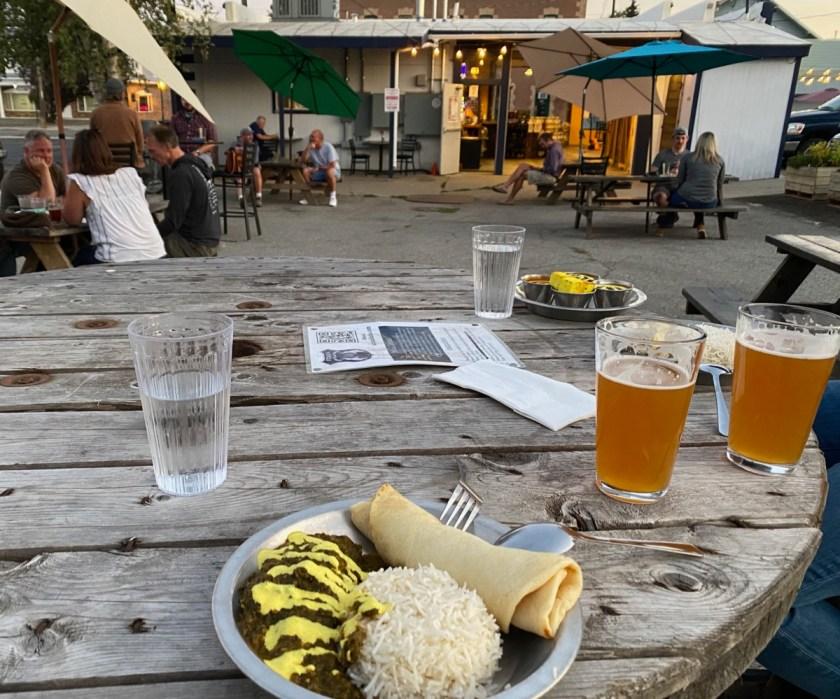 curry and beer at utara brewing
