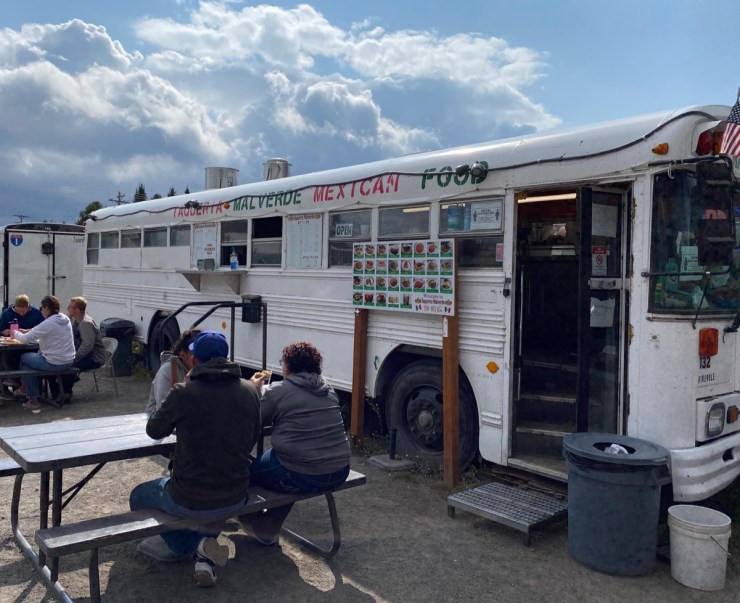 Taqueria Malverde food truck in West Yellowstone