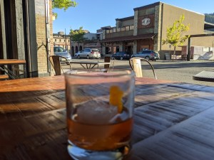 a cocktail at Warfield Distillery