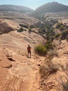 hiking to Zebra Canyon