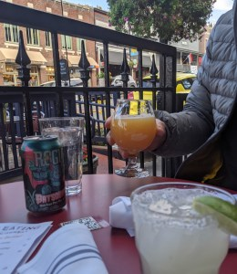 beers and cocktails on the porch at 501 on Main in Park City