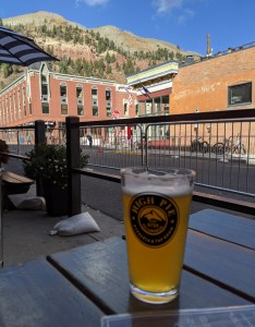 a beer at High Pie in Telluride