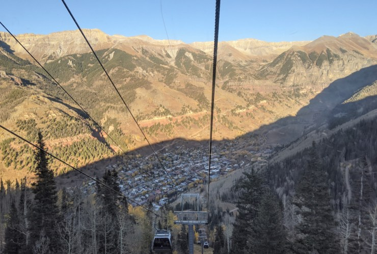 view from the gondola in Telluride