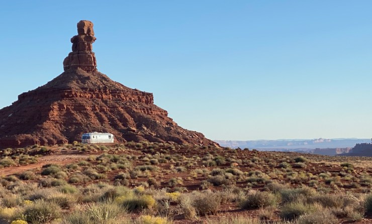 the Airstream in Valley of the Gods