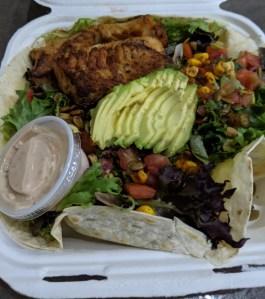 Quesadilla salad from Bonez in CB