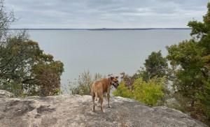 overlook of Elk City Lake