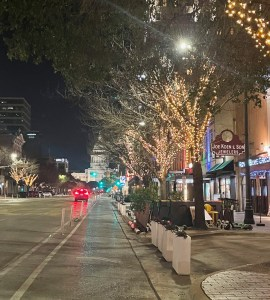 quiet night downtown in Austin
