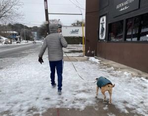 icy sidewalks in austin