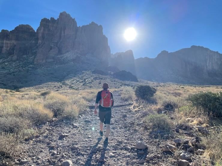 hiking to the Flatiron