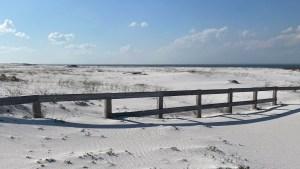 sand dunes in Pensacola Beach