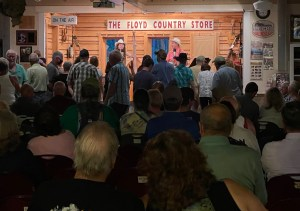 band performance at the Floyd Country Store