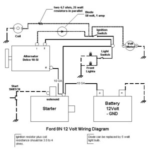 6 Volt Alternator For 8n Wiring  Complete Wiring Diagrams