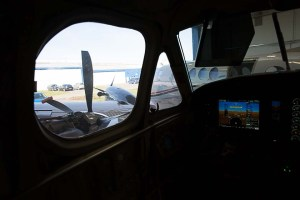 view from hangar