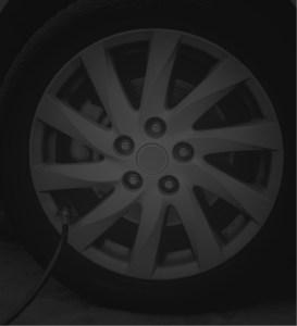 black wheel background