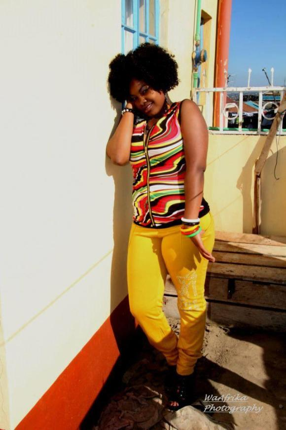 Cool, vibrant, young ,fresh and colorful - This Kenyan girl displays some swag