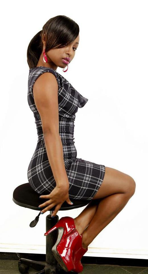 Kenyan woman wows in sexy office attire