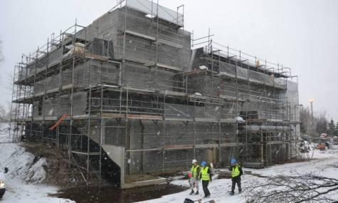 Aktueller Baustand in Billund - außen...