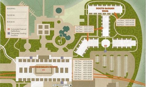 Die offizielle Karte des Contemporary Resort