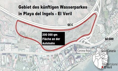 Hier seht ihr einen Lageplan zum zukünftigen Wasserpark