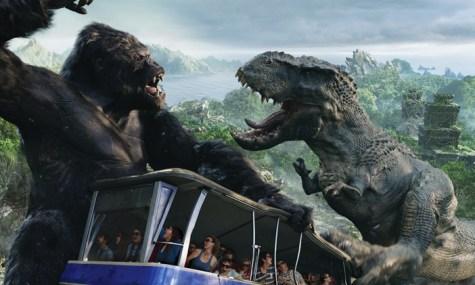In King Kong 360 3-D kommen Gäste dem Riesenaffen gefährlich nahe - Anklicken zum Vergrößern!