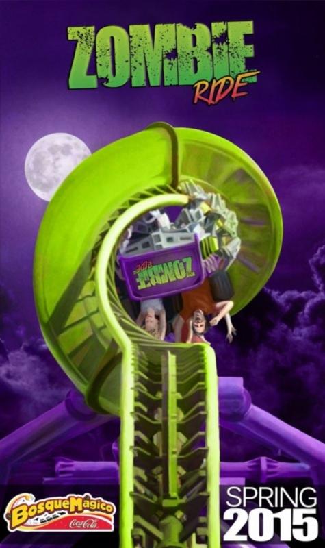 Das Ankündigungsplakat zum Zombie-Coaster