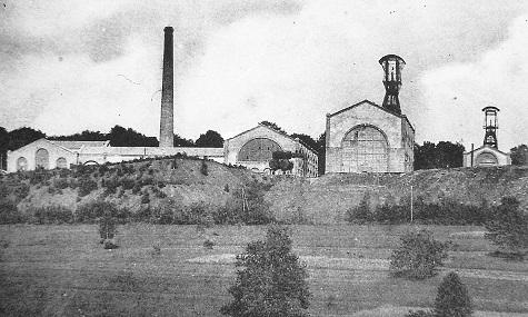Dieses Foto vom Beginn des 20. Jahrhunderts zeigt eine französische Steinkohlemine.