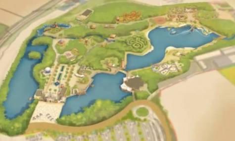 Verschiedene Parkplanentwürfe - hier gezeichnet...