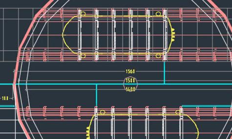 Ein Blick auf die Pläne der Station: Sie wird als drehbare Doppelstation ausgeführt