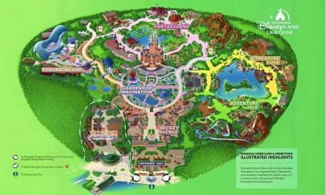 Der erste Parkplan des Disneyland - Anklicken zum Vergrößern!