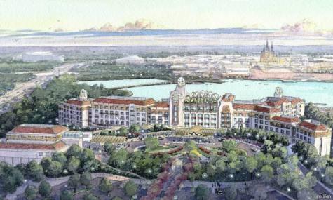 Das zukünftige Shanghai Disneyland Hotel