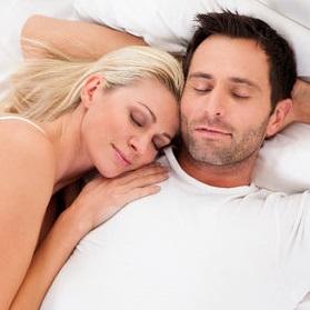 couples enjoying a good quiet sleep