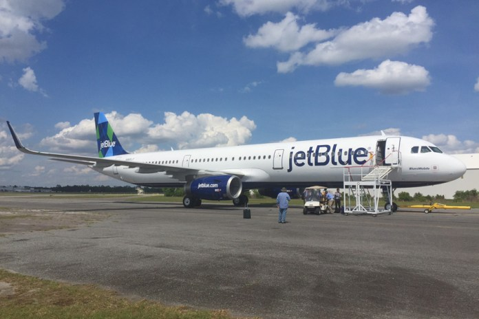 'BluesMobile' will now be fitted with FlyFi and In-Flight connectivity before starting revenue service with JetBlue. (Credits: Author)