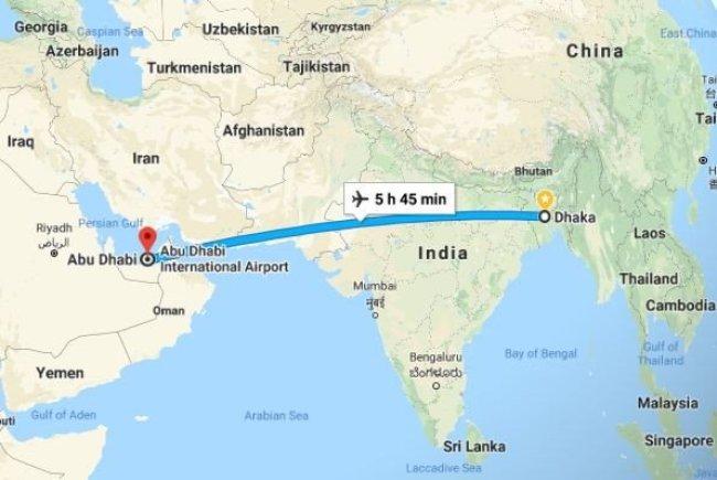 Dhaka to Abu Dhabi Flight Information