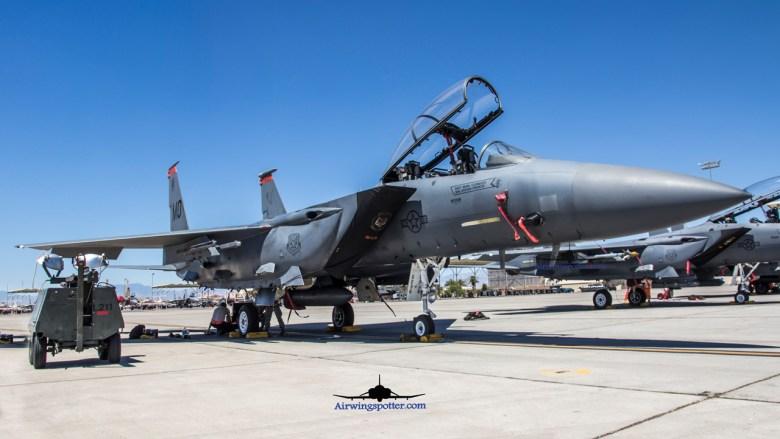 F-15E with ASQ-236 pod