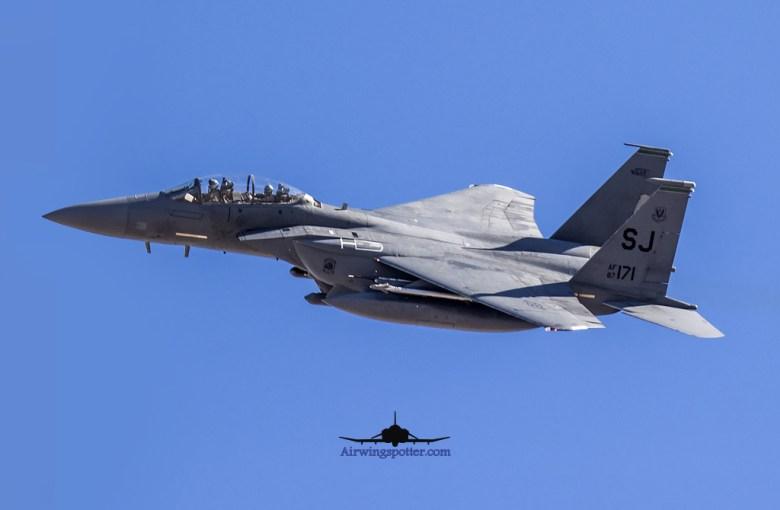 F-15e 335th FS Flex take off