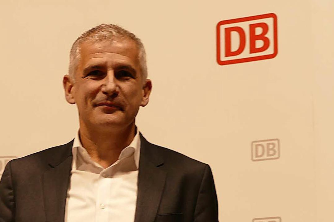 Sven Hantel, Konzernbevollmächtigter d...rgehen der Bahn transparent zu machen.  | Foto: Victoria Langelott