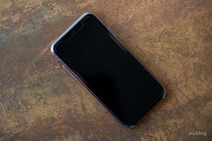 iPhone 11 with clear case