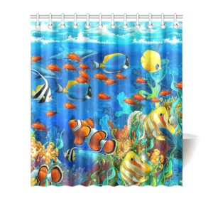 fish shower curtains and hooks a is