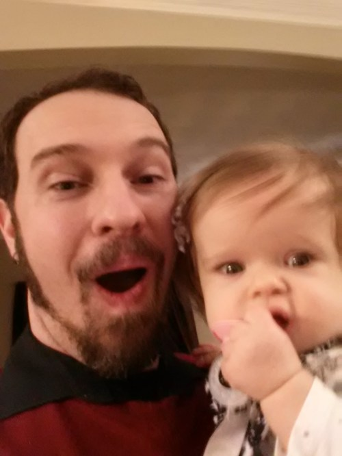 Being silly with Daddy on NYE