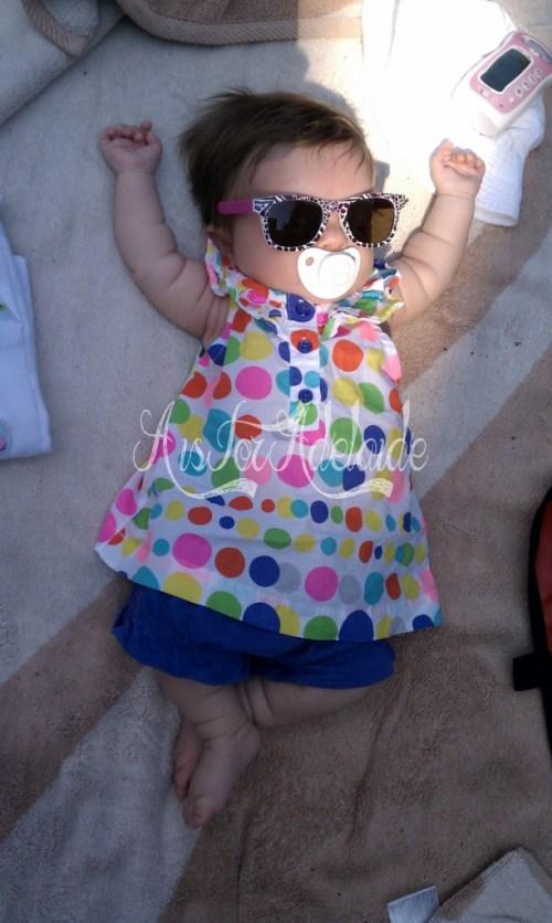 Addie at Pool