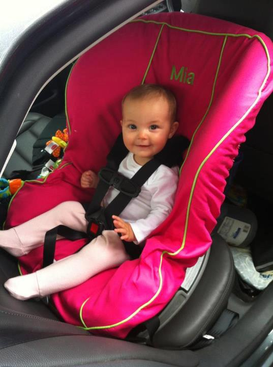 Toddler car seat cover. Picture from Little Bits.