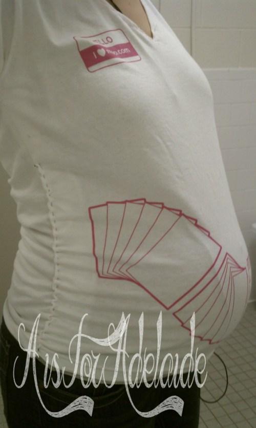 A larger moo.com shirt that I made a maternity shirt :)