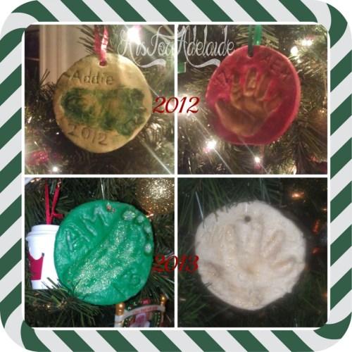 2012 and 2013 #saltdough ornaments #aisforadelaideblog