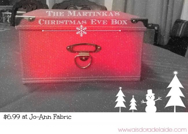 Christmas Eve Box #aisforadelaide #joannfabric